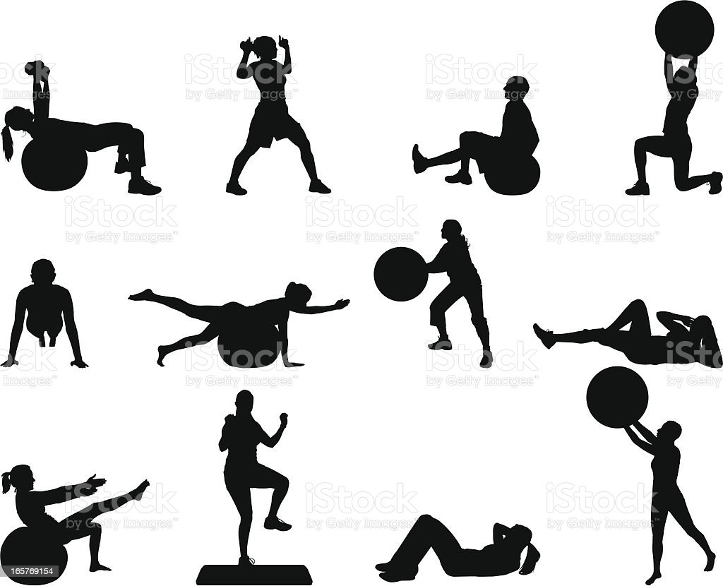 Strength and Fitness vector art illustration