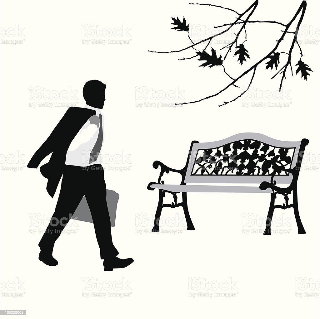 Stress Management Vector Silhouette vector art illustration