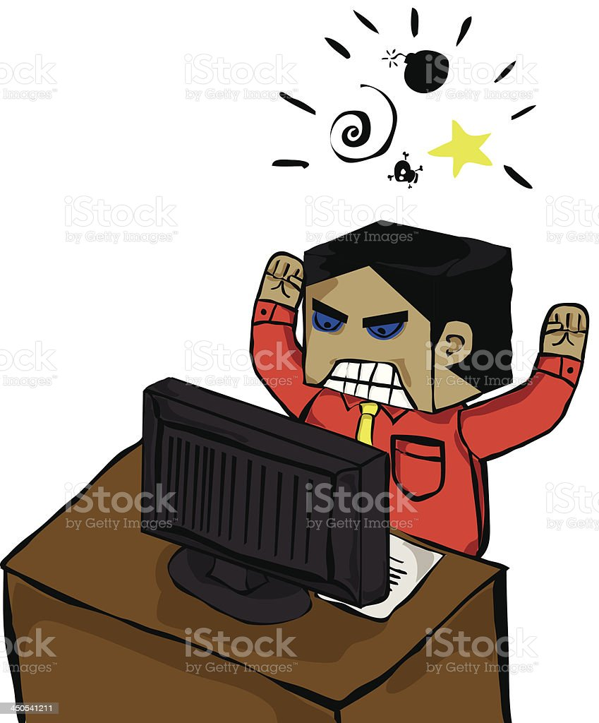Stress on Work royalty-free stock vector art
