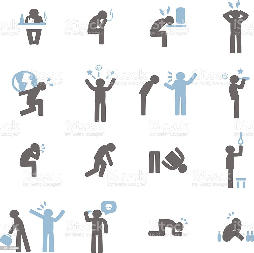 Stressed Icon vector art illustration