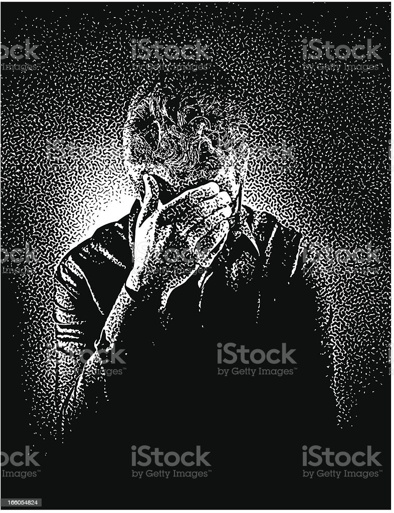 Stressed Out Man royalty-free stock vector art