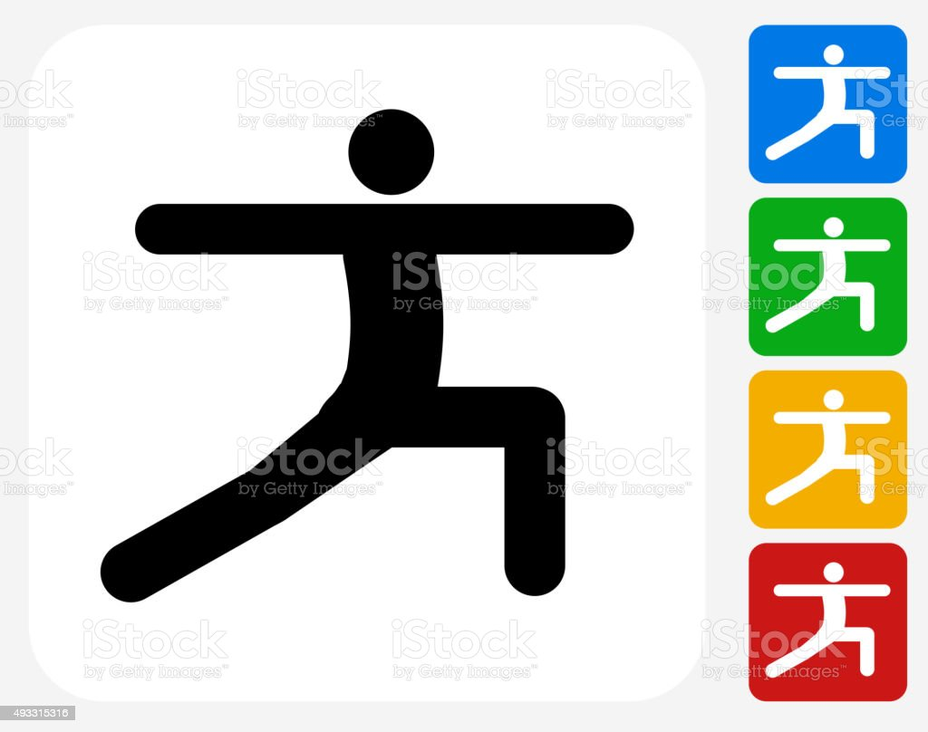 Stretch Icon Flat Graphic Design vector art illustration