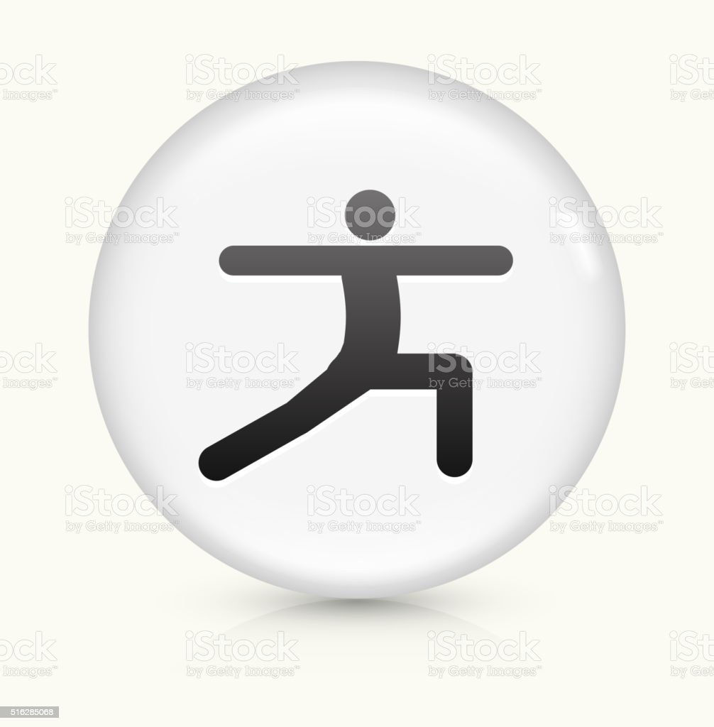 Stretch icon on white round vector button vector art illustration
