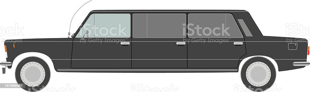Stretch limo. royalty-free stock vector art