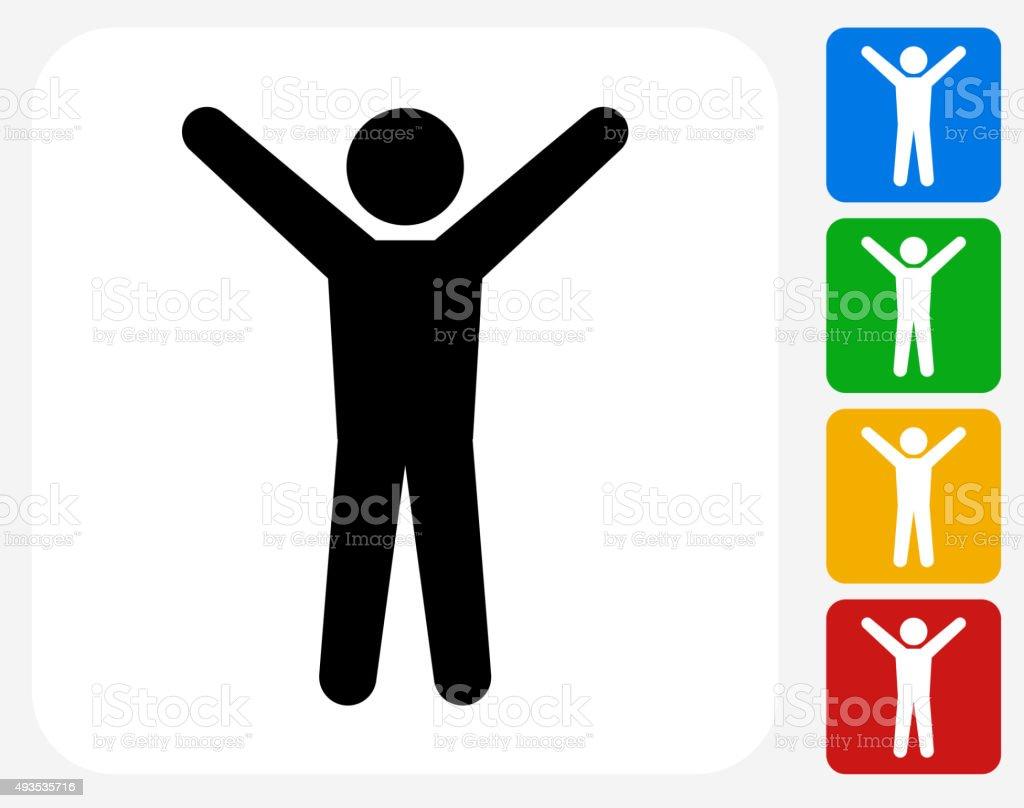 Stretching Icon Flat Graphic Design vector art illustration