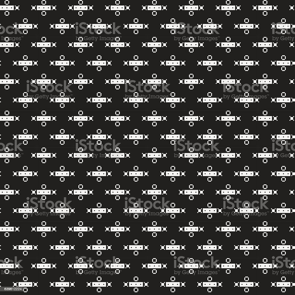 Strict pixelated seamless pattern in corporate style. Useful for web...