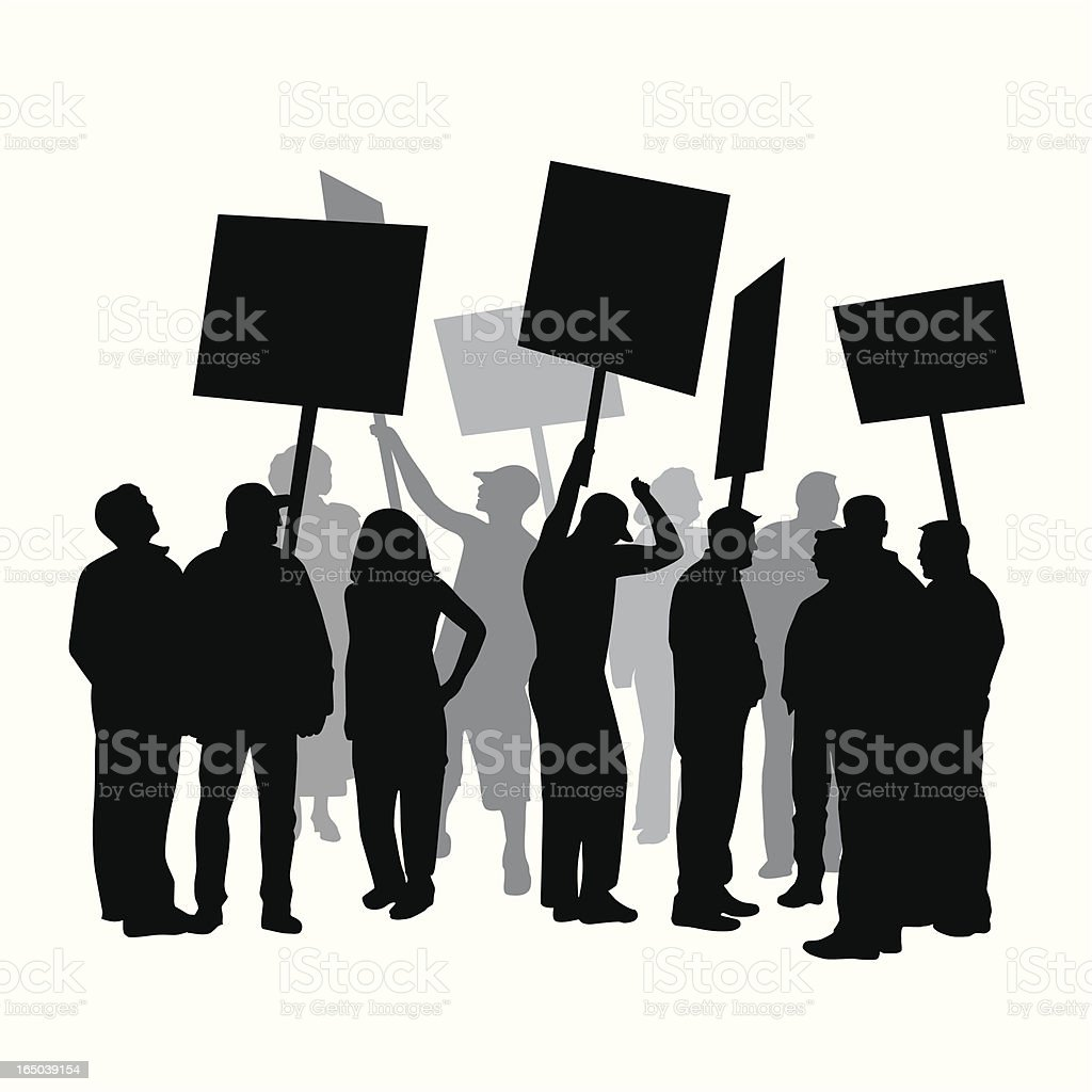 Strike Protest Union Vector Silhouette royalty-free stock vector art