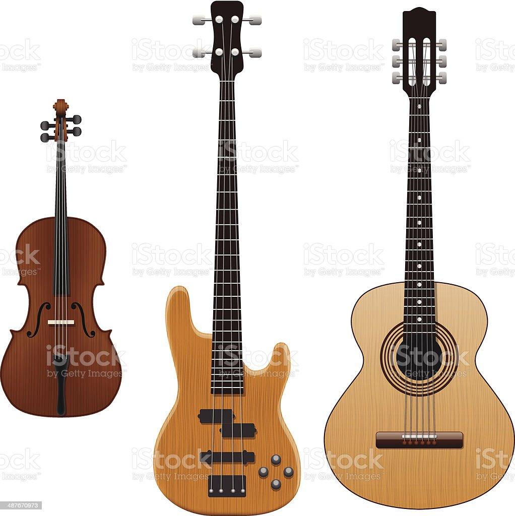 String Instruments vector art illustration