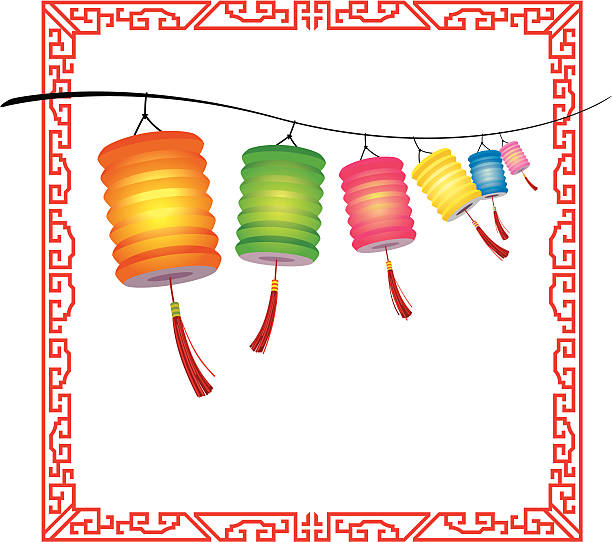 Chinese Lantern Festival Clip Art, Vector Images ...