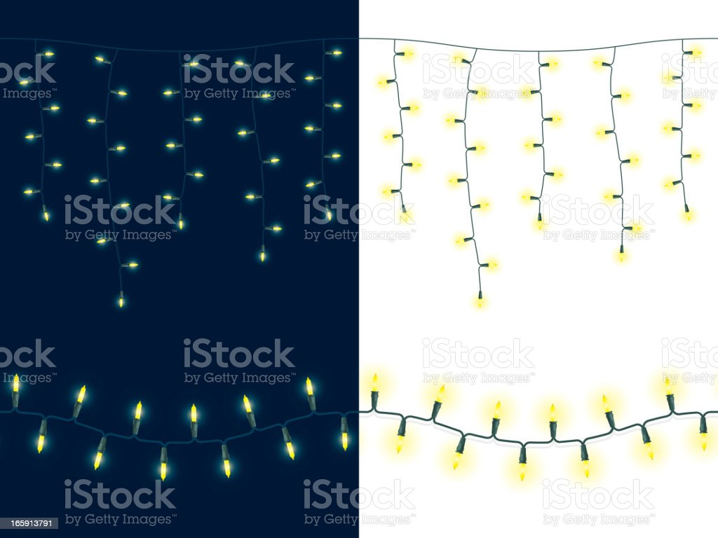 String of glowing lights - Seamless royalty-free stock vector art