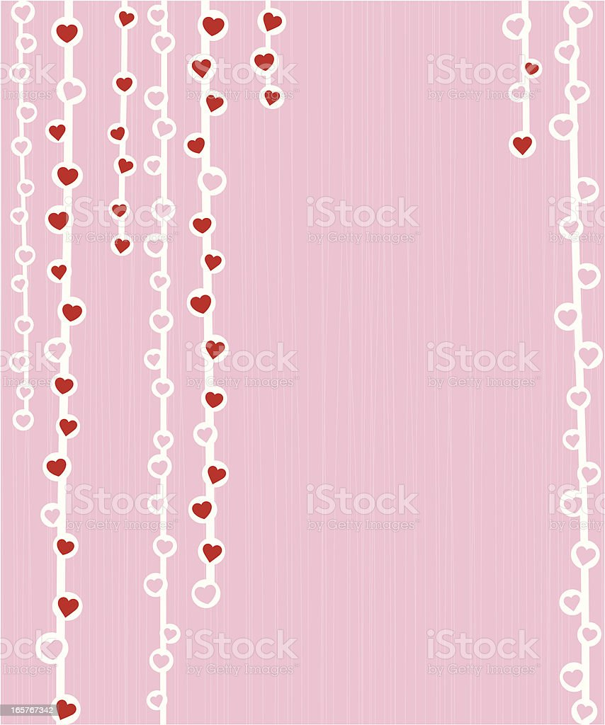String of hearts royalty-free stock vector art