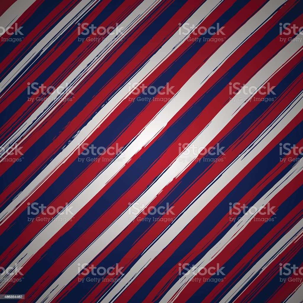 Striped background for patriotic card vector art illustration