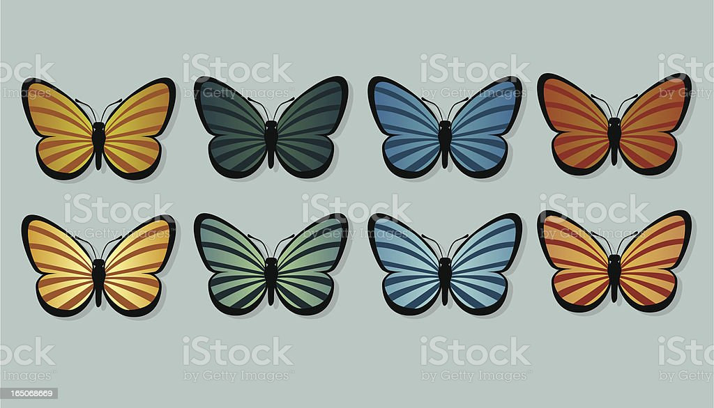 Striped Butterflies royalty-free stock vector art