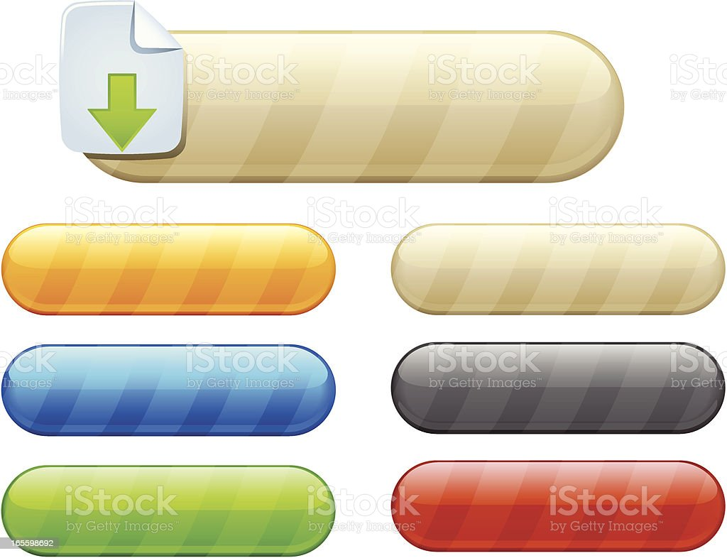 striped buttons royalty-free stock vector art