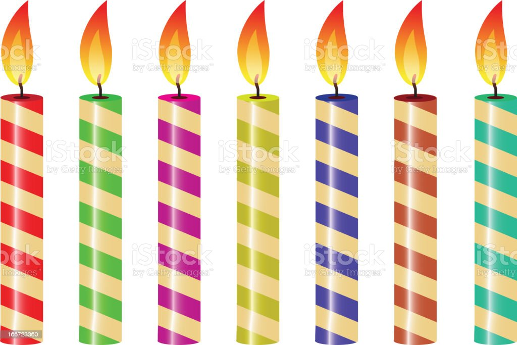 striped candles royalty-free stock vector art