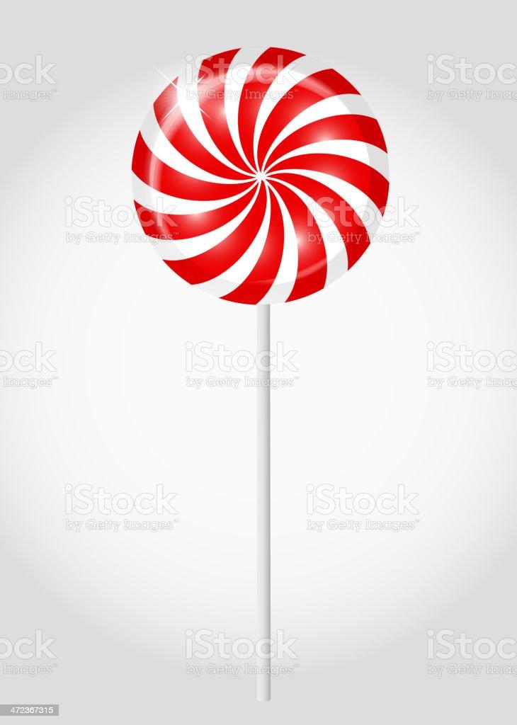 Striped candy vector illustration vector art illustration