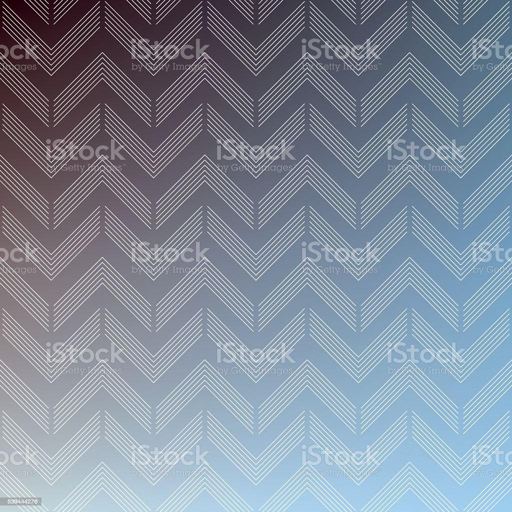 striped chevron pattern on color gradient background. vector art illustration