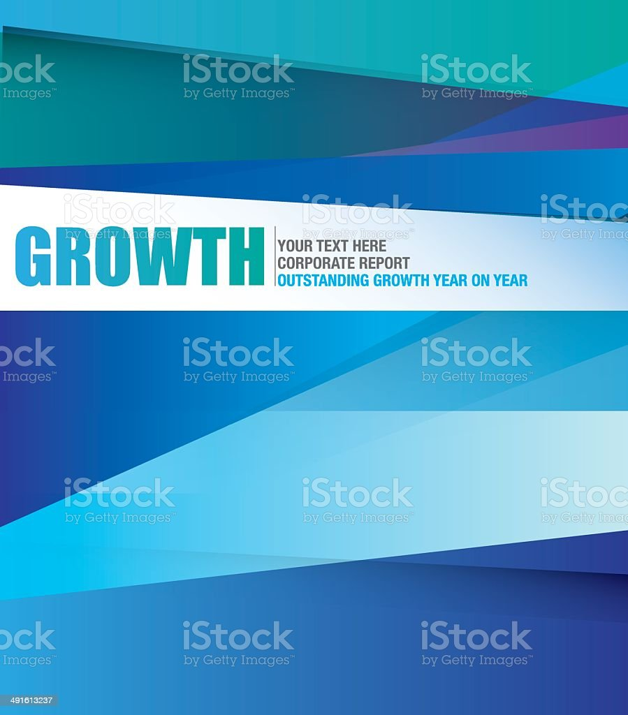 striped cover with different shades of corporate blue vector art illustration