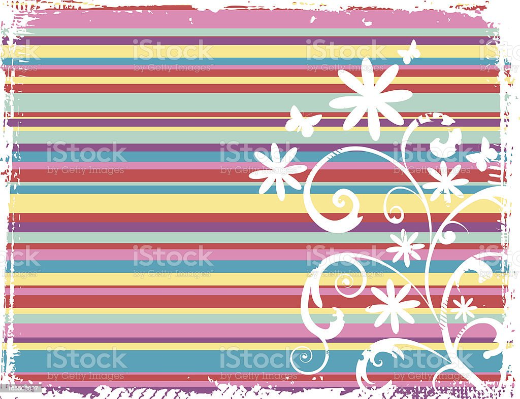 Striped Flowers royalty-free stock vector art