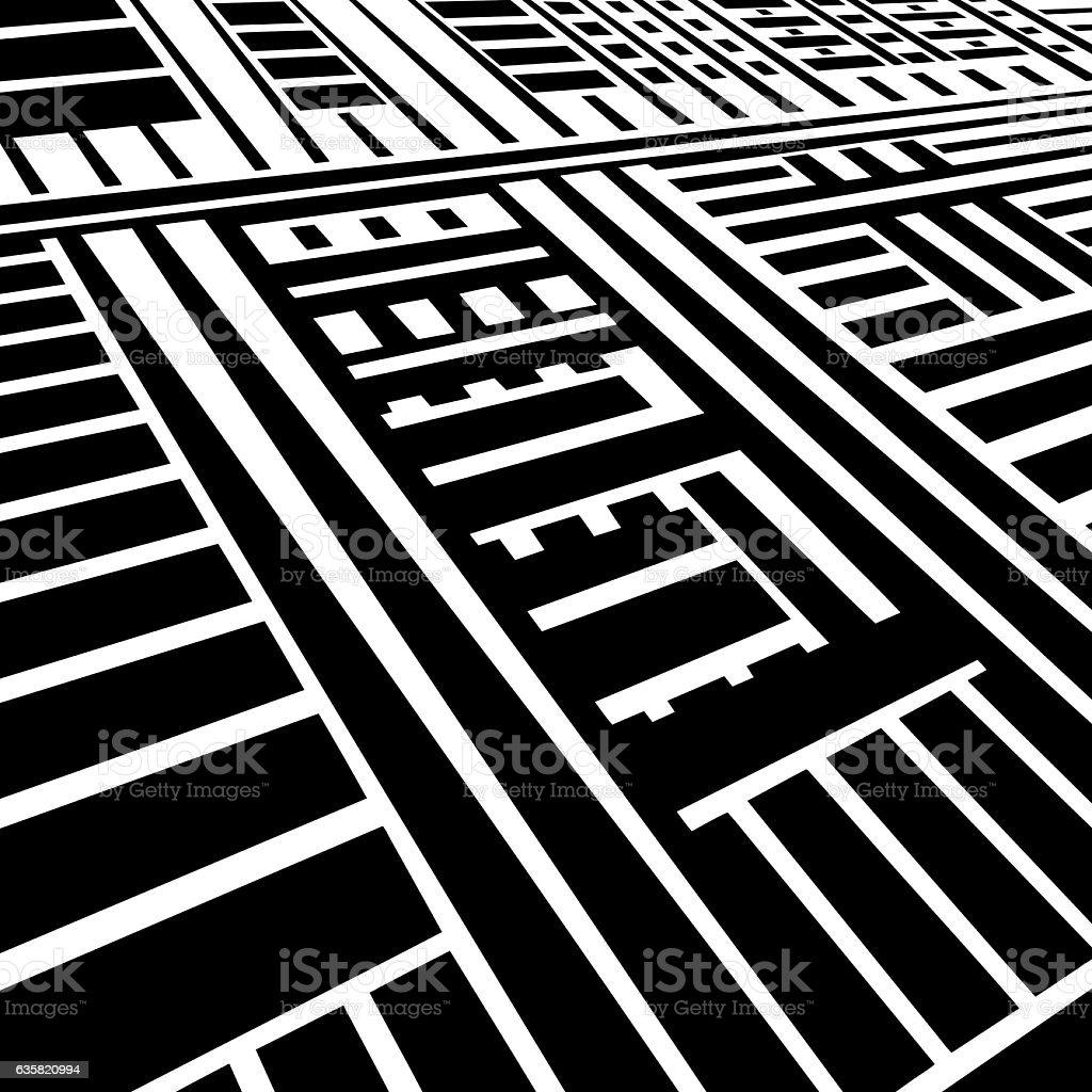 Striped Halftone Pattern Suggesting Information Superhighway vector art illustration