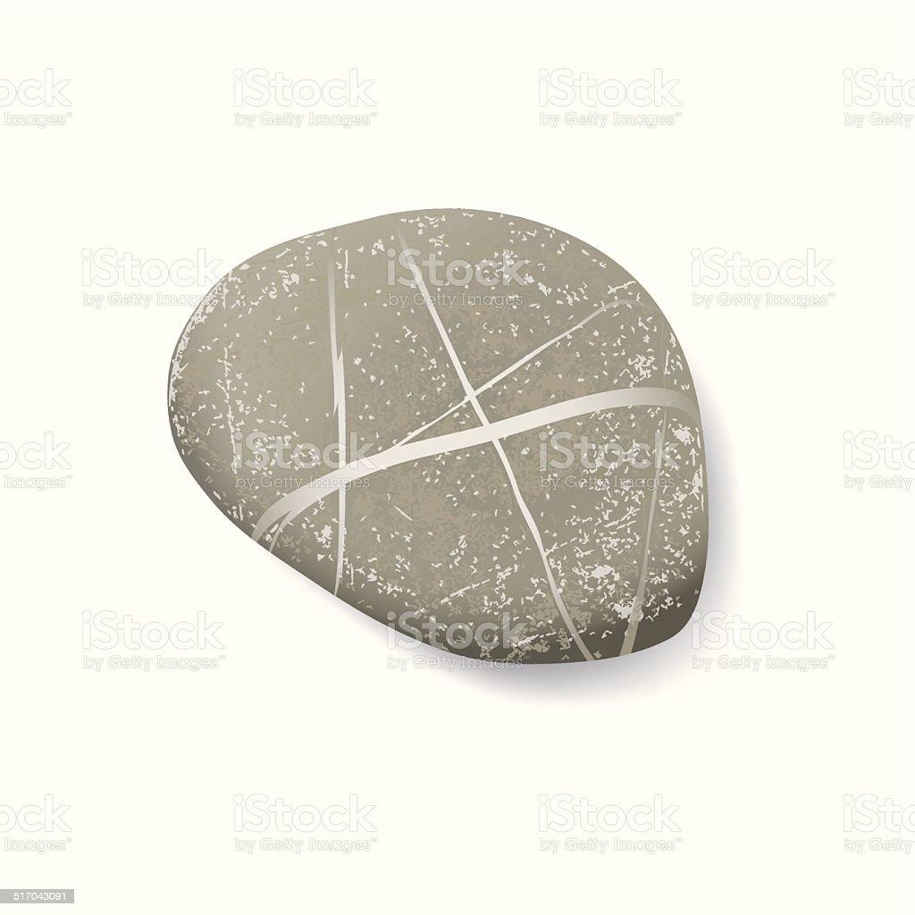 striped pebble vector art illustration