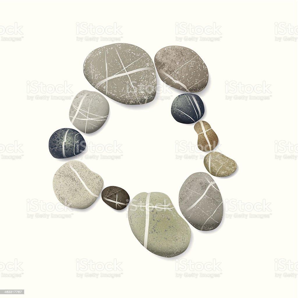 striped pebbles circle vector art illustration