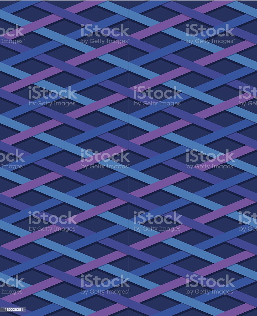 Striped seamless pattern, blue and purple royalty-free stock vector art