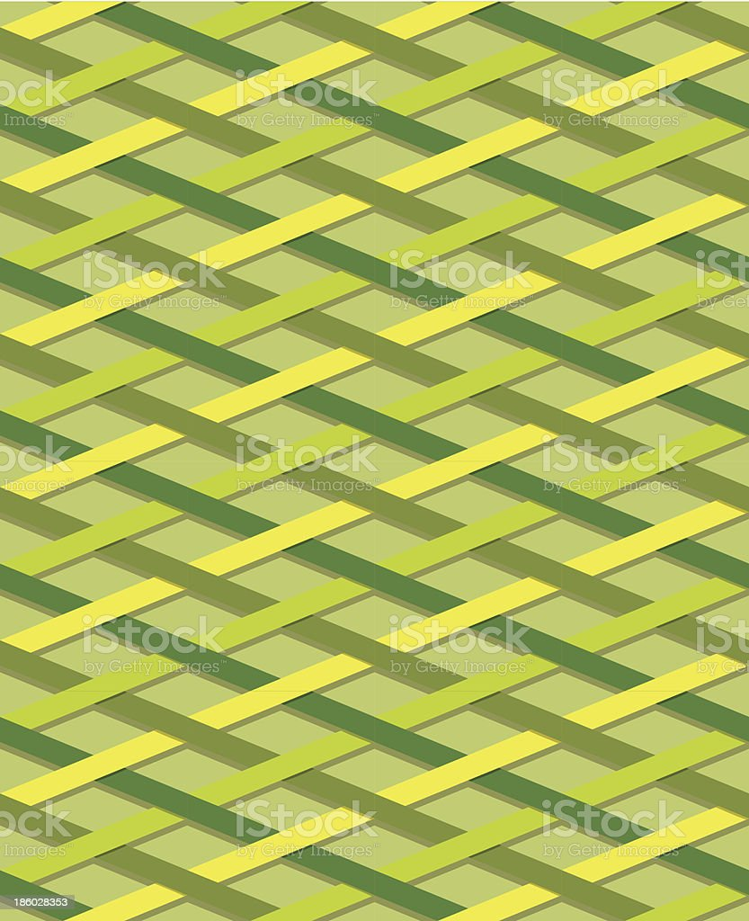 Striped seamless pattern, yellow and green royalty-free stock vector art