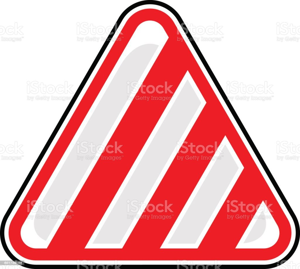 Stripes Road Sign Barricade Tape Sticker vector art illustration