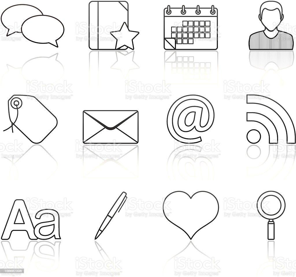 Strokes Series - Blogging (set 4) vector art illustration