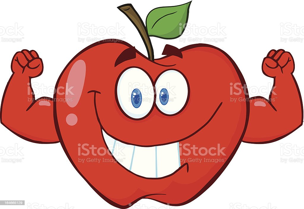 Strong Apple royalty-free stock vector art