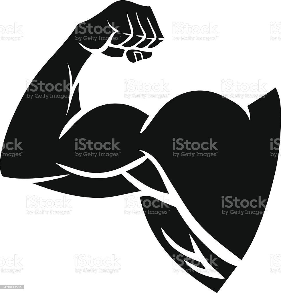 Strong Arm Silhouette vector art illustration
