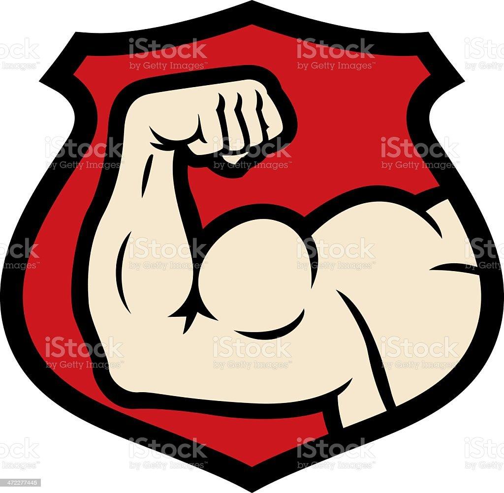 strong arm vector art illustration