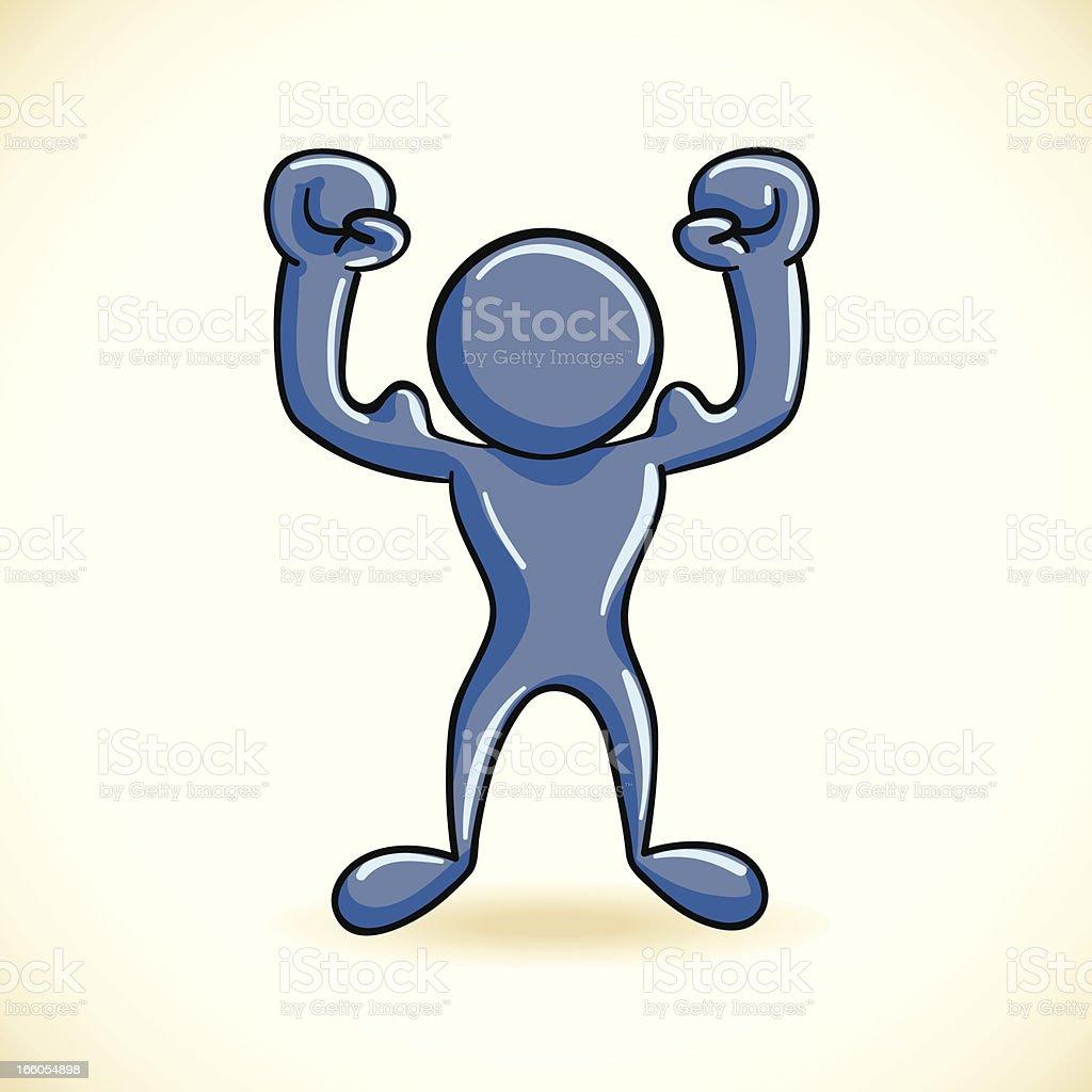 Strong Blue Man royalty-free stock vector art