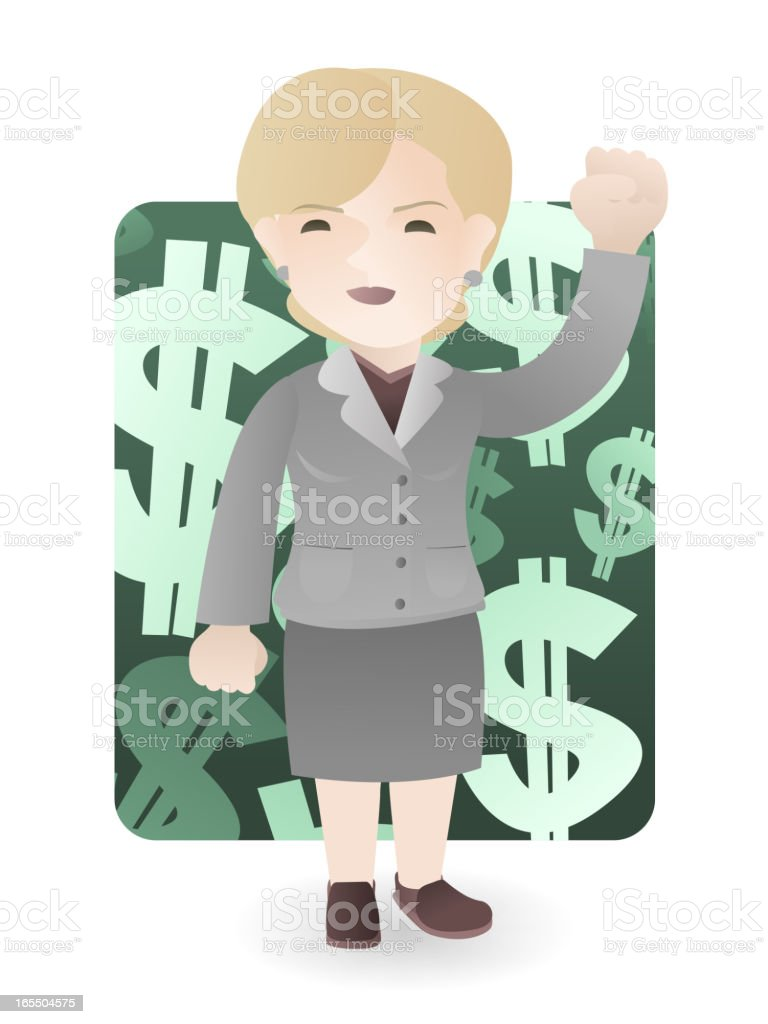 Strong Business Woman vector art illustration