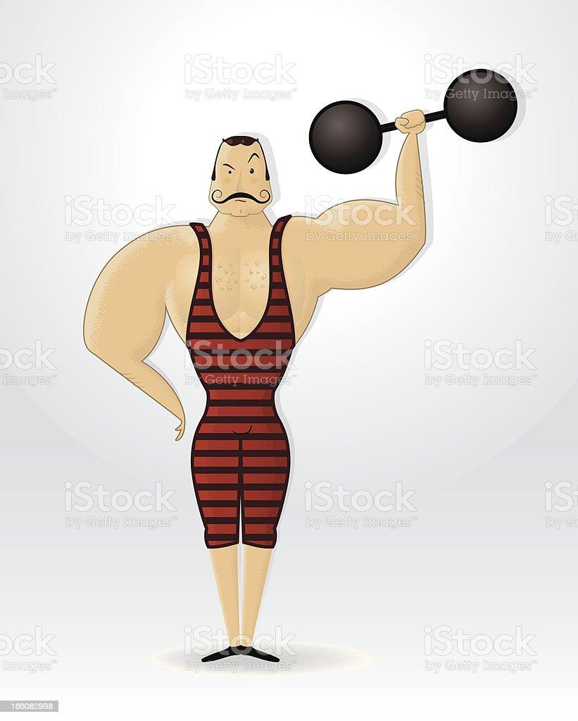 Strong Gentleman vector art illustration