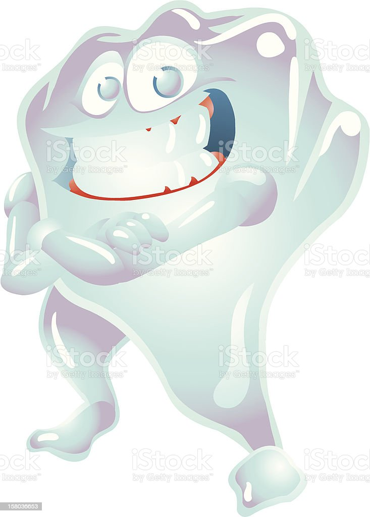 Strong Tooth royalty-free stock vector art