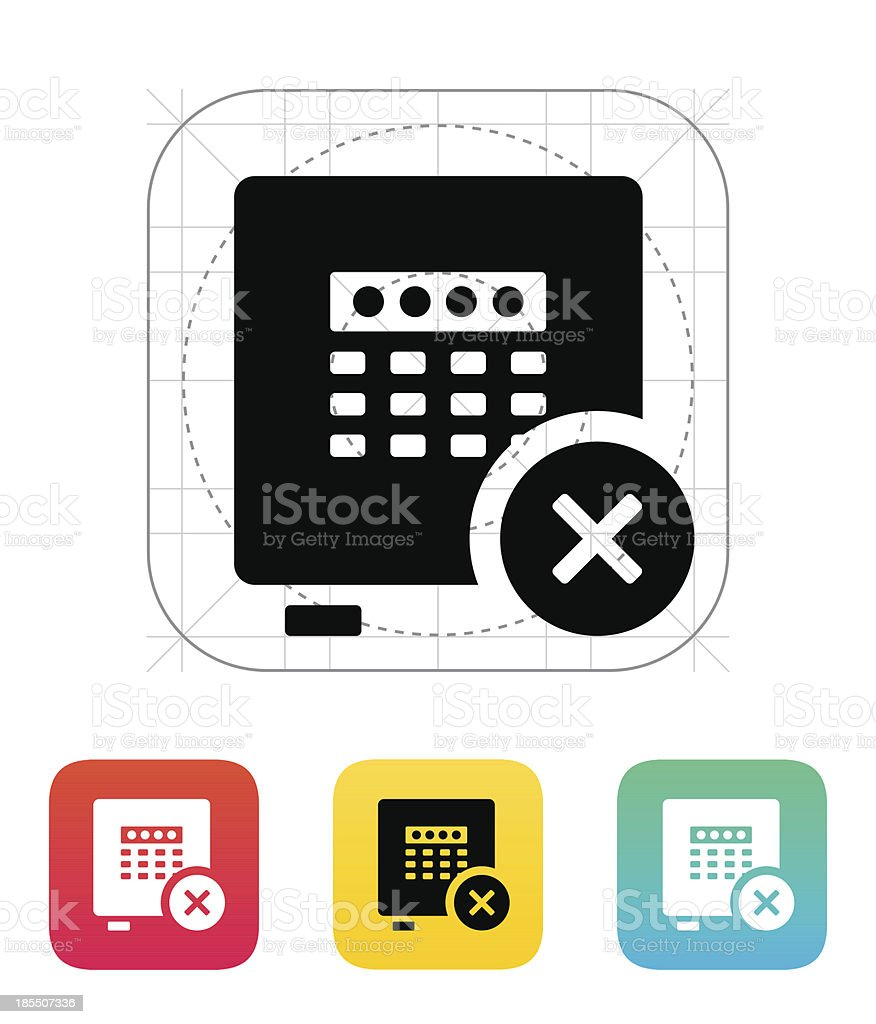 Strongbox broken icon. royalty-free stock vector art