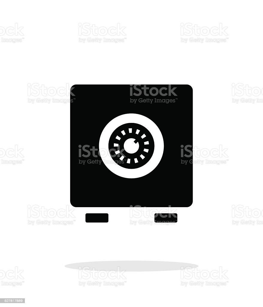 Strongbox icon on white background. vector art illustration