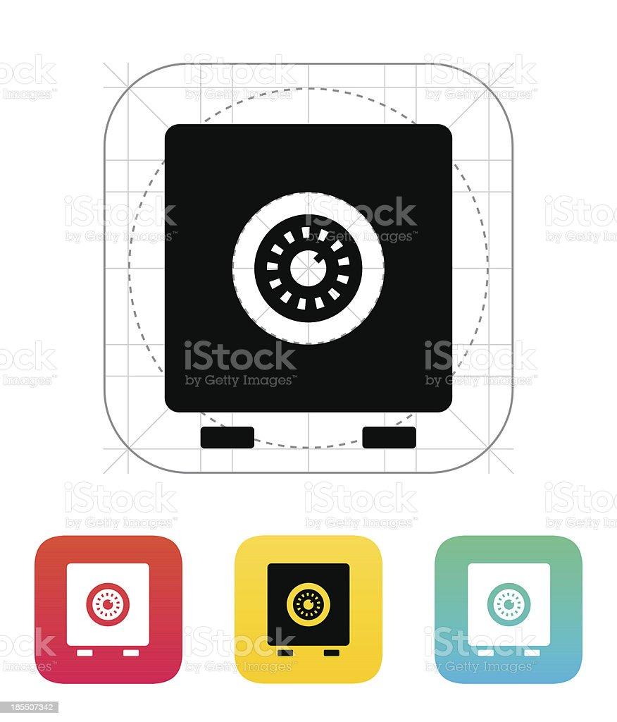 Strongbox icon. royalty-free stock vector art