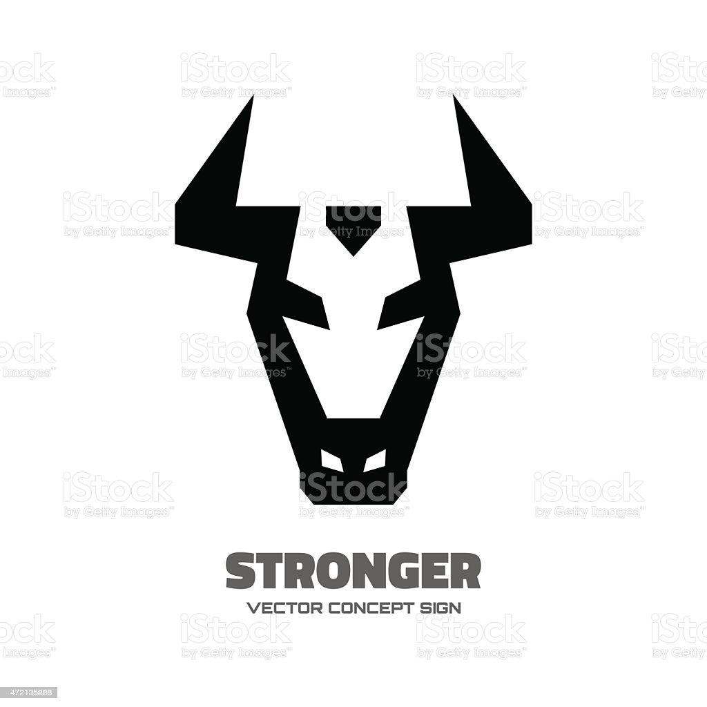 Stronger - vector logo concept illustration vector art illustration