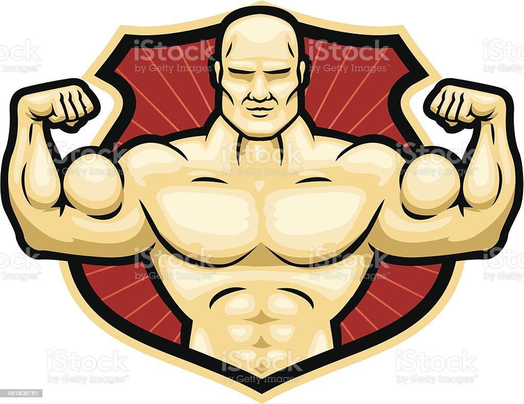 strongman crest royalty-free stock vector art