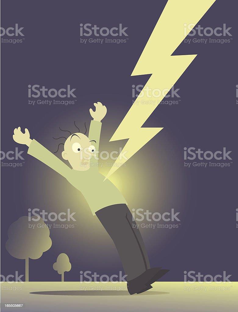 Struck by Lightning royalty-free stock vector art