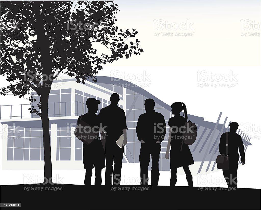 Student Blues royalty-free stock vector art