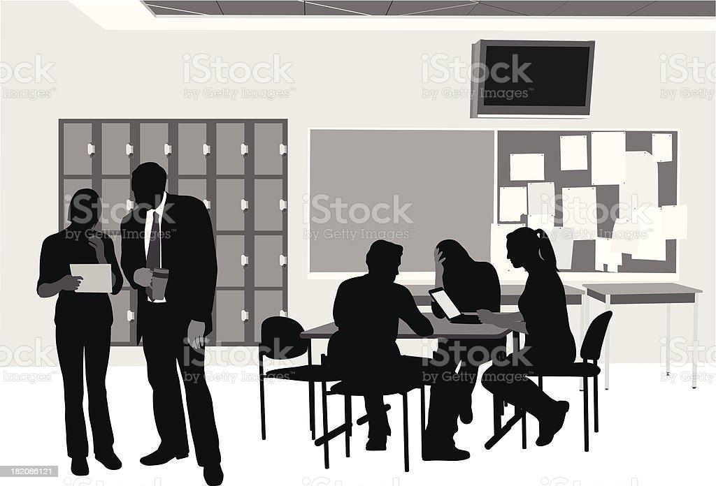 Student Classroom royalty-free stock vector art