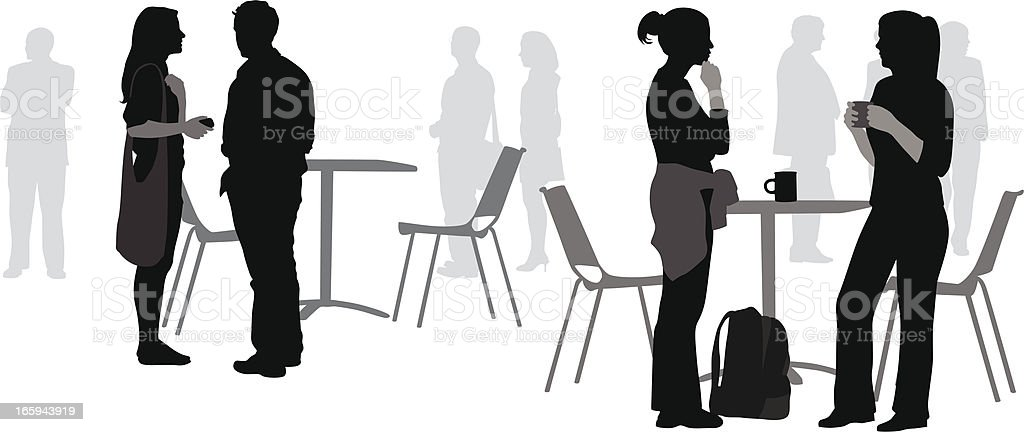 Student CoffeeShop Vector Silhouette royalty-free stock vector art