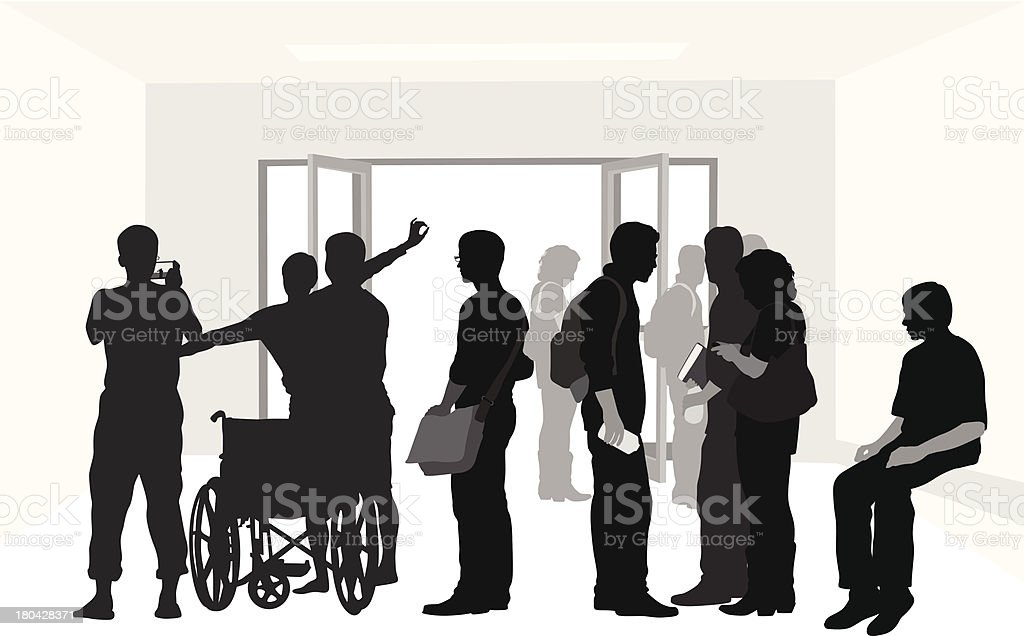 Student Crowd royalty-free stock vector art