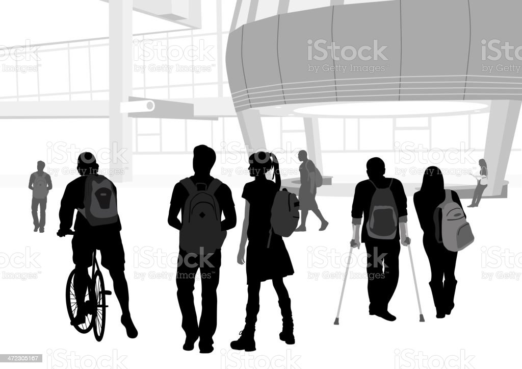 Student Cycling royalty-free stock vector art