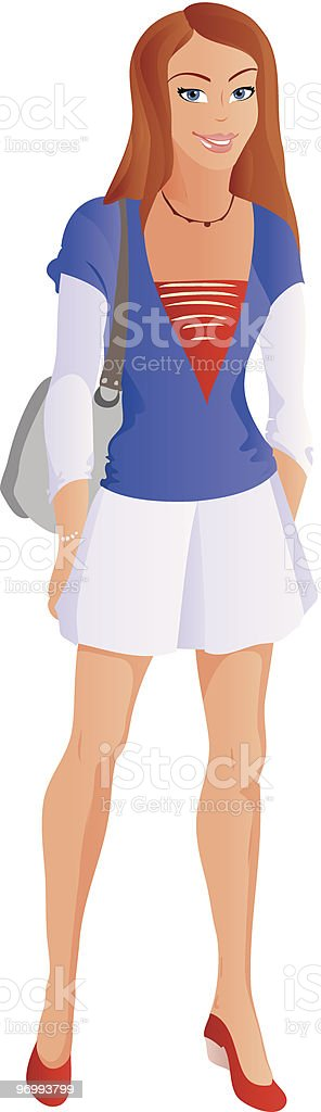 Student girl from age-related set royalty-free stock vector art