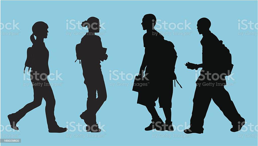 Student Life ( Vector ) vector art illustration